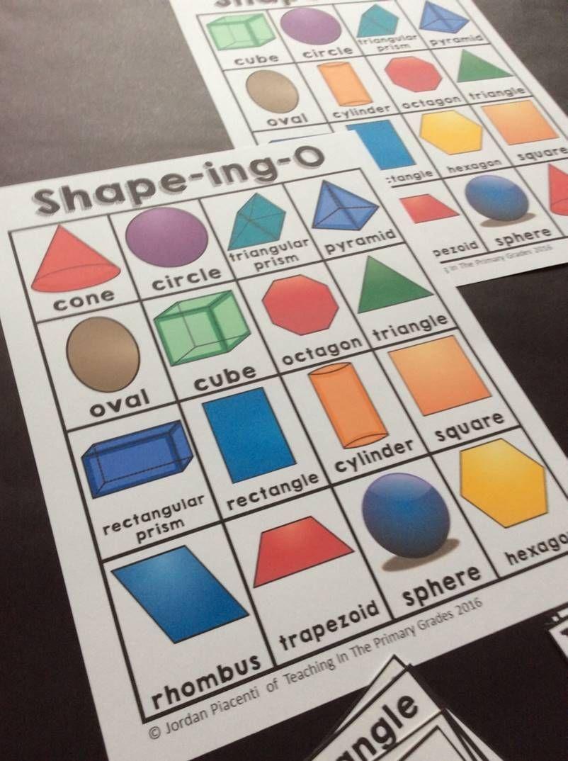 2D And 3D Shapes-Bingo   Math For First Grade   2D, 3D Shapes - 3D Shape Bingo Free Printable