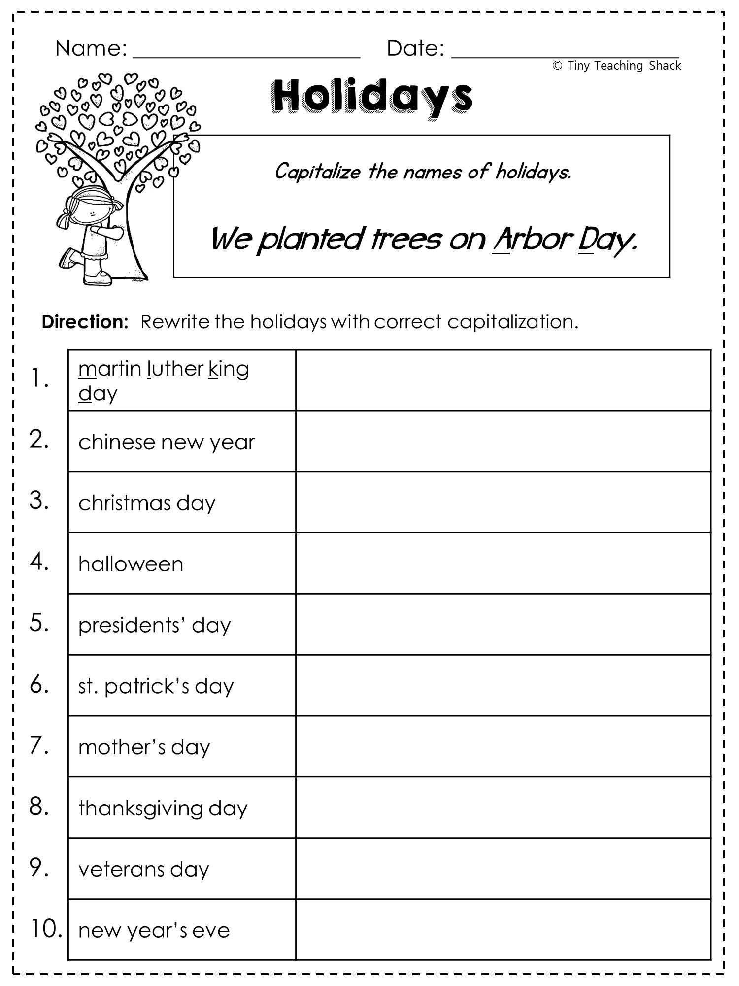 2Nd Grade Language Arts And Grammar Practice Sheets Freebie (Common - Free Printable Grammar Worksheets For 2Nd Grade