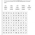 2Nd Grade Word Search   Best Coloring Pages For Kids   2Nd Grade Word Search Free Printable