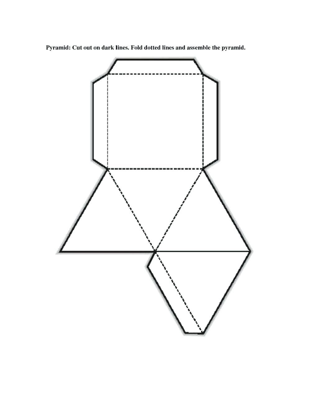 3 D Shape Printables Free Printable Shape Nets Template Learning - Free Shape Templates Printable