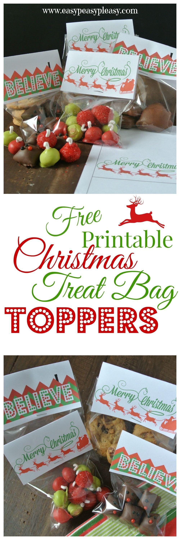 3 Free Printable Christmas Treat Bag Toppers | Easy Peasy Pleasy - Free Printable Christmas Bag Toppers