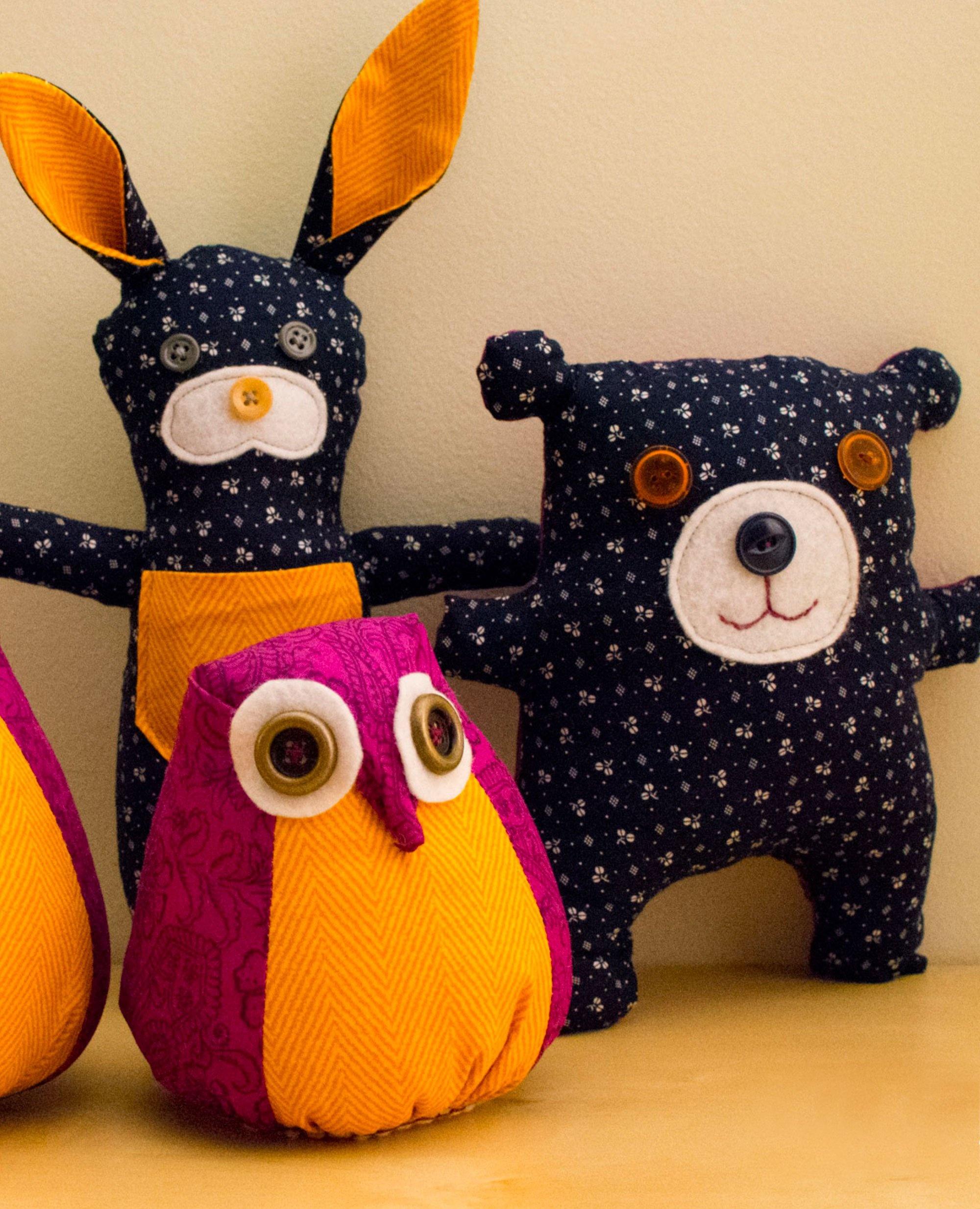 3 Free Stuffed Animal Patterns - Free Printable Stuffed Animal Patterns