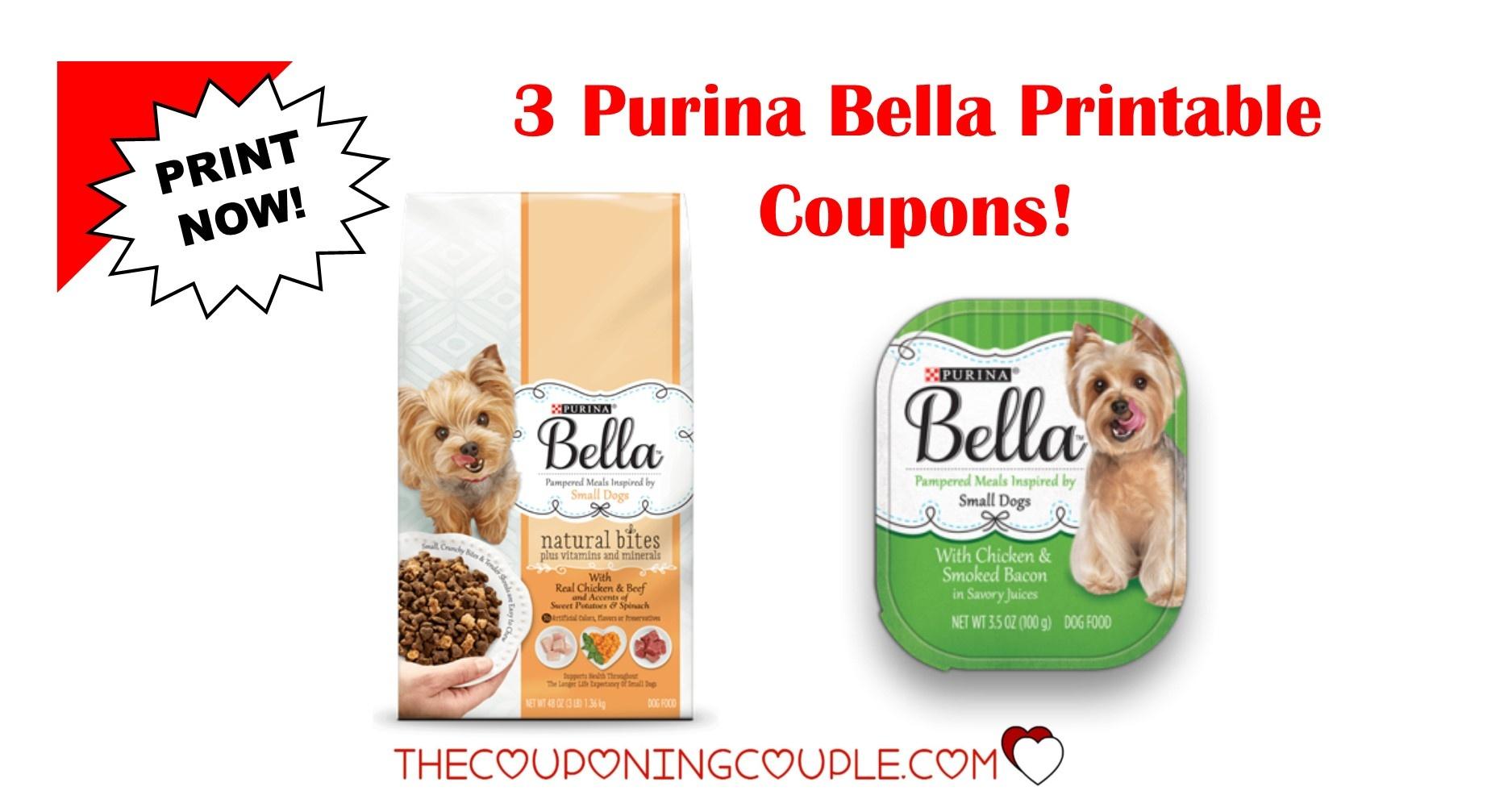 3 New Purina Bella Dog Food Printable Coupons ~ Print Now! - Free Printable Coupons For Food