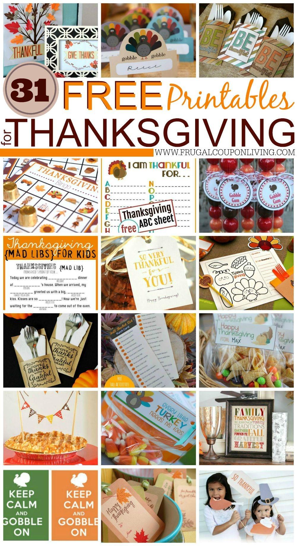 31 Free Thanksgiving Printables - Free Printable Thanksgiving Treat Bag Toppers