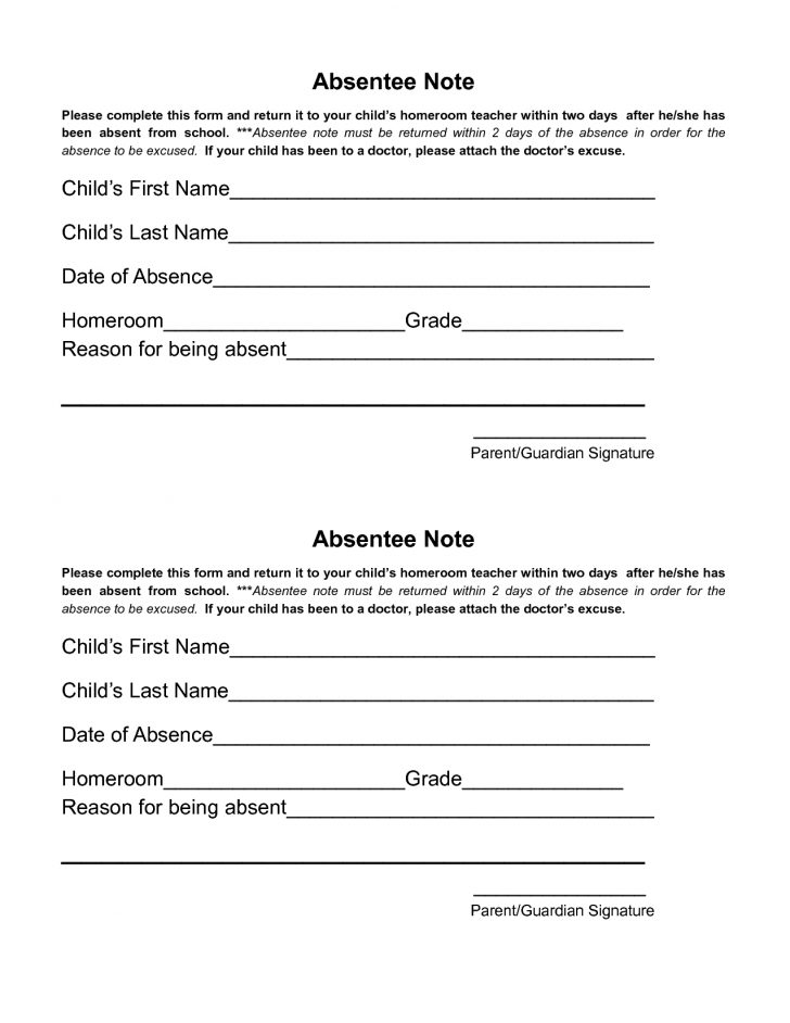 Doctor Notes For Free Printable