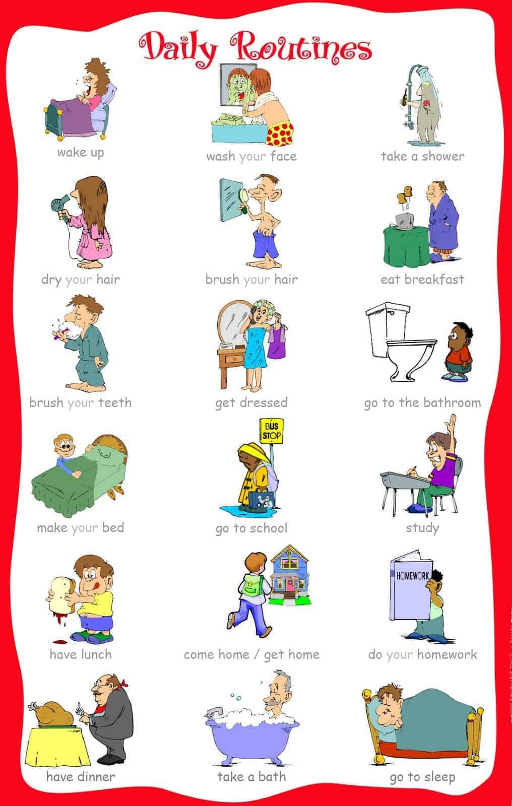 33 Printable Visual/picture Schedules For Home/daily Routines. - Free Printable Visual Schedule For Preschool