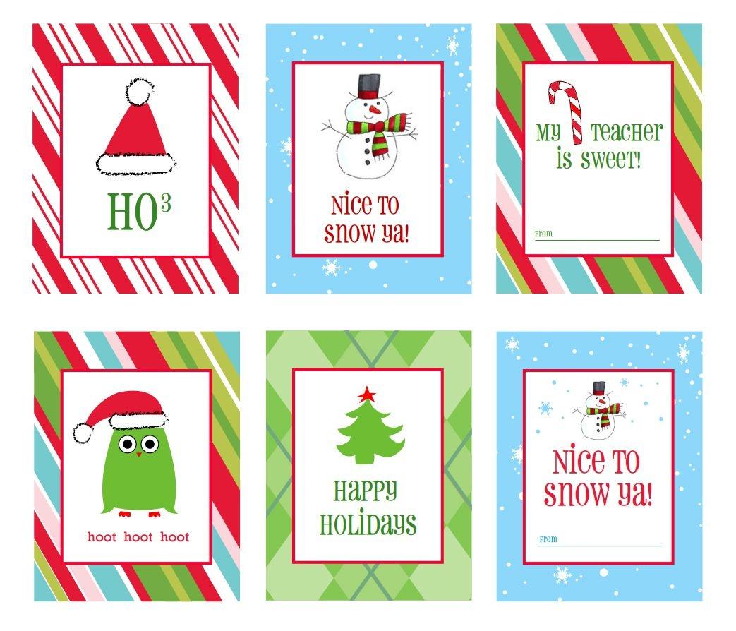 39 Sets Of Free Printable Christmas Gift Tags - Free Printable Happy Holidays Gift Tags