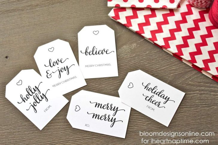 Printable Gift Tags Customized Free
