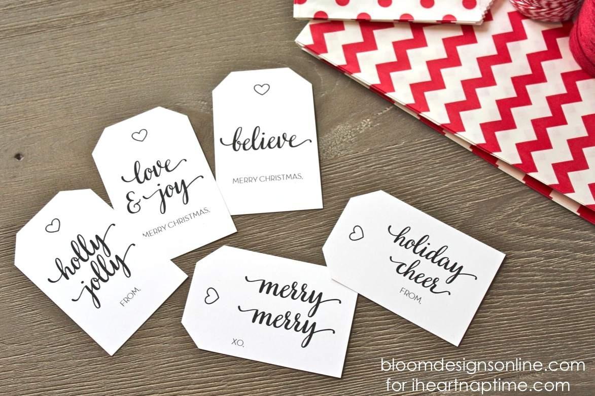 39 Sets Of Free Printable Christmas Gift Tags - Printable Gift Tags Customized Free