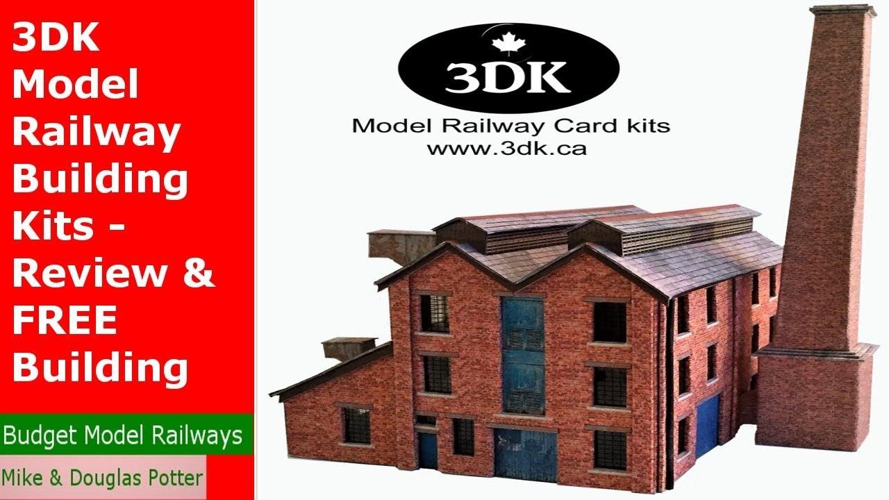 3Dk Model Railway Building Kits - Review & Free Building Kit - Youtube - Free Printable Model Railway Buildings