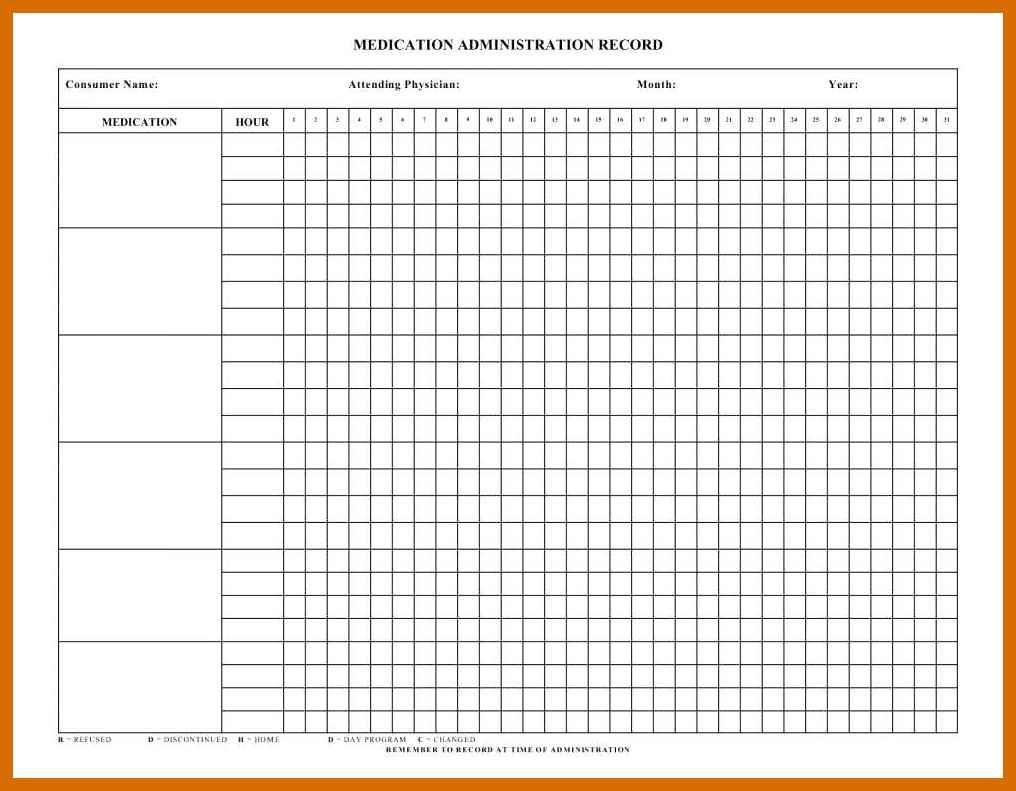 4-5 Free Printable Medication Chart   Salescv - Free Printable Medication Chart