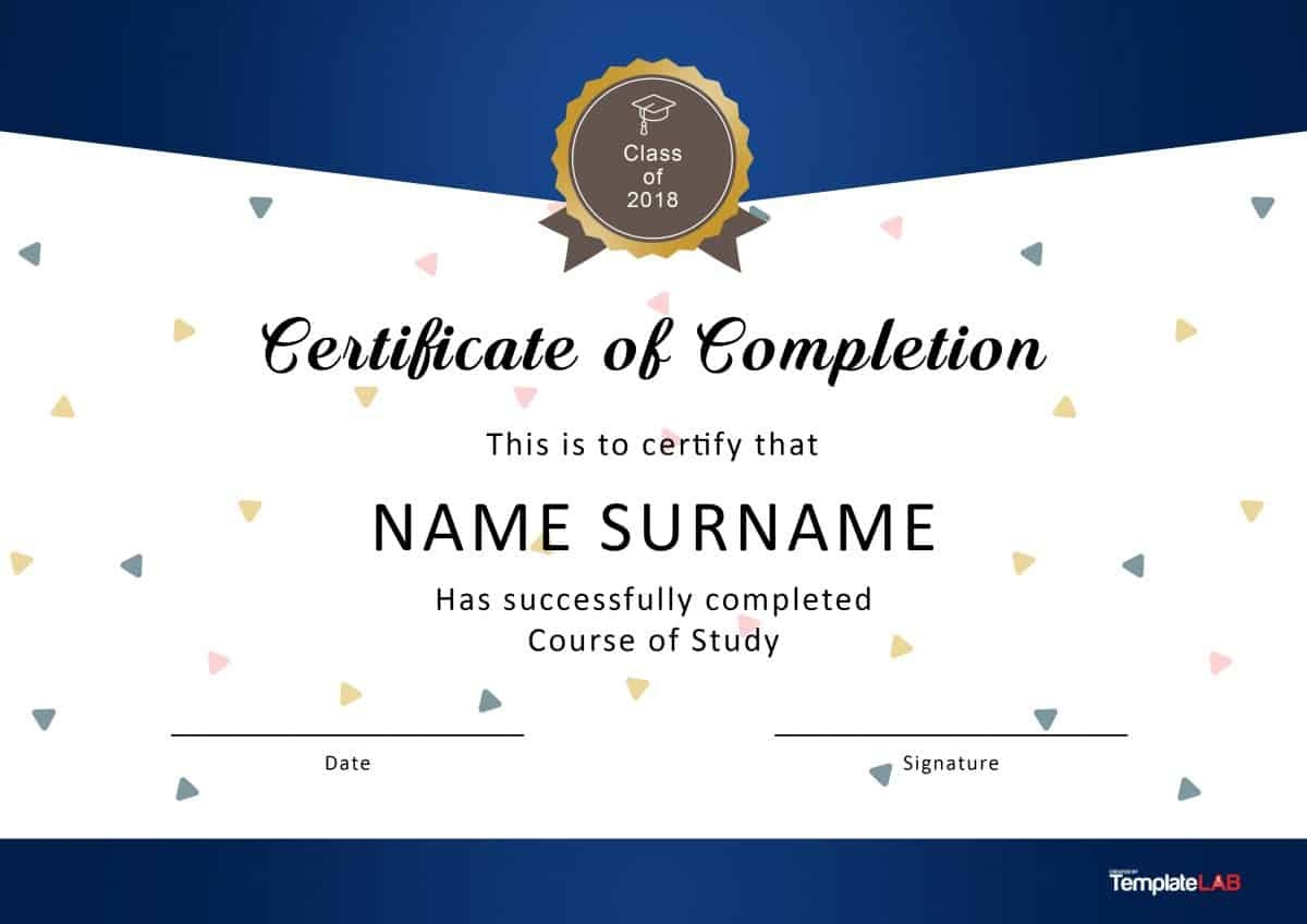 40 Fantastic Certificate Of Completion Templates [Word, Powerpoint] - Free Printable School Certificates Templates