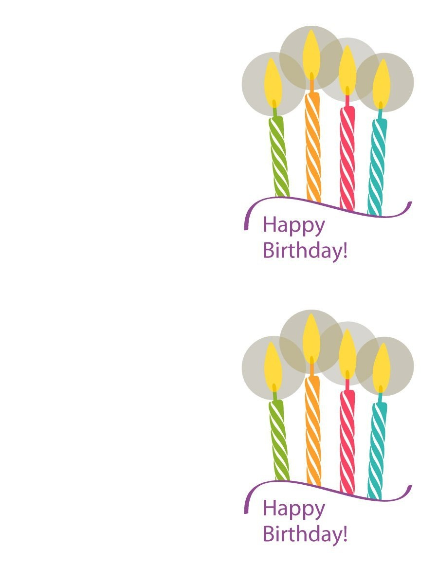 40+ Free Birthday Card Templates ᐅ Template Lab - Free Printable Card Templates