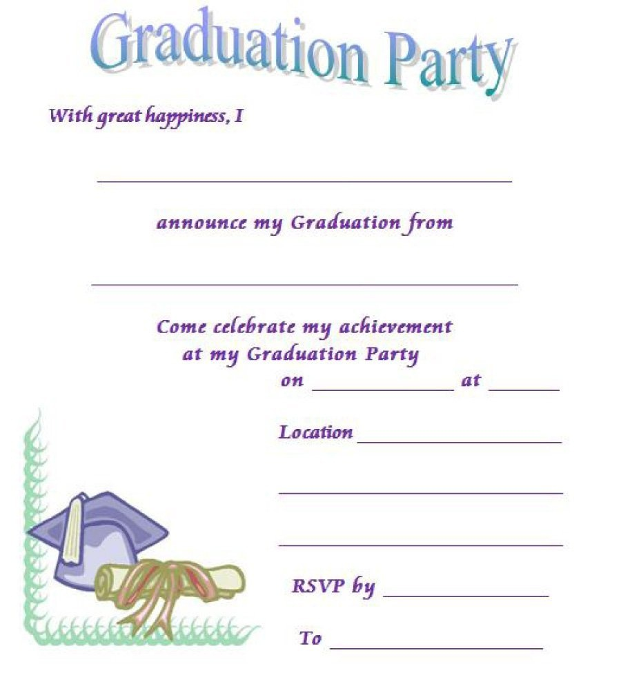 40+ Free Graduation Invitation Templates ᐅ Template Lab - Free Printable Graduation Invitations