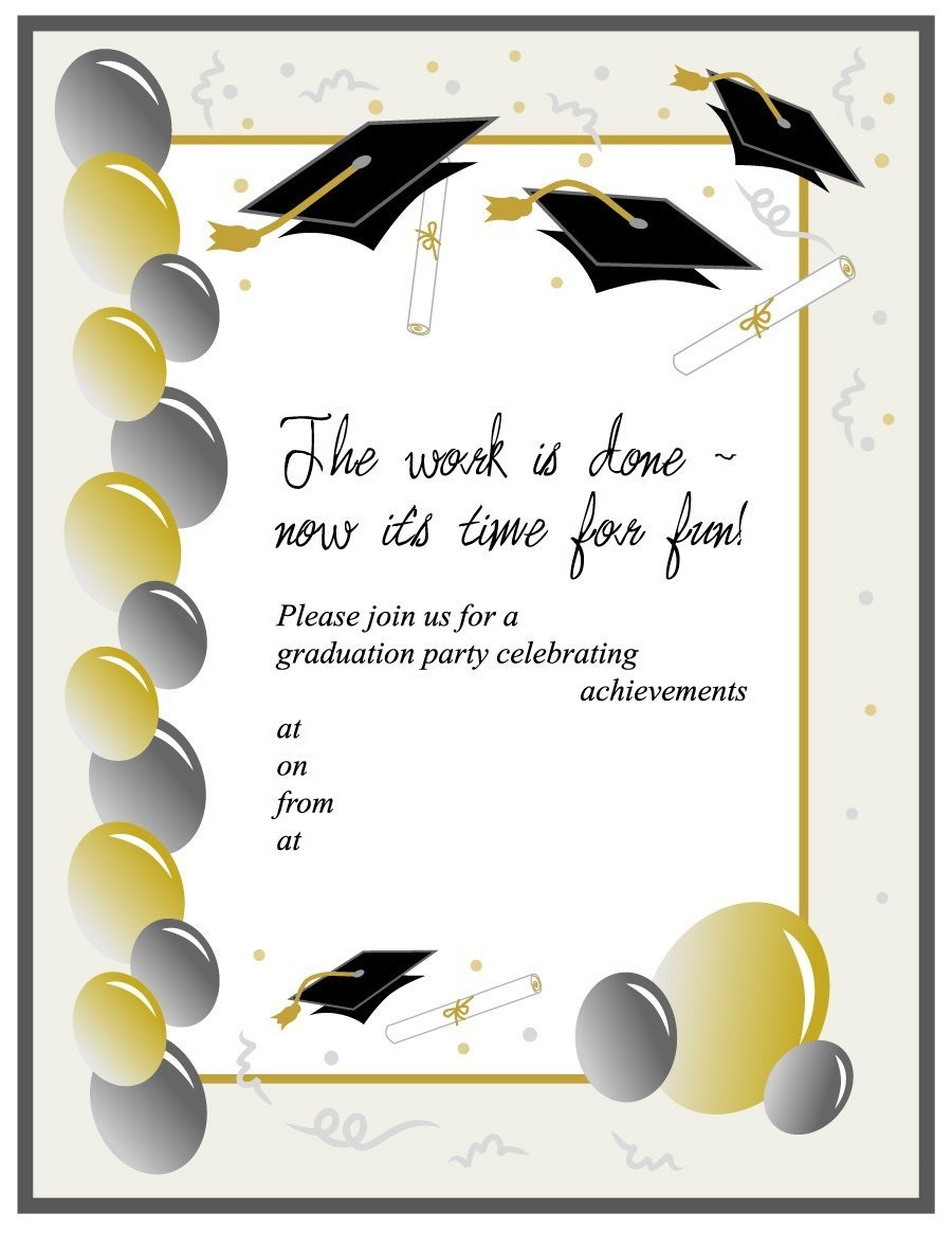 40+ Free Graduation Invitation Templates ᐅ Template Lab - Printable Invitation Templates Free Download