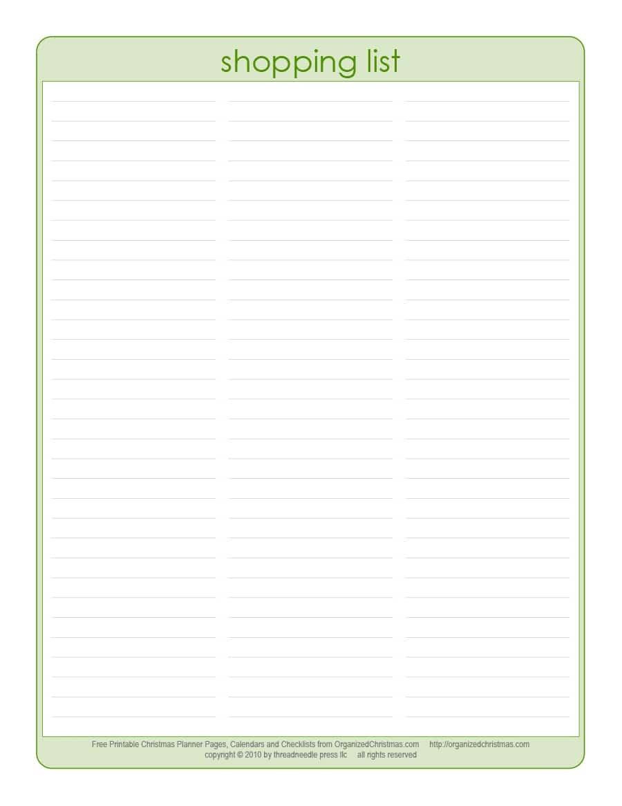 40+ Printable Grocery List Templates (Shopping List) ᐅ Template Lab - Free Printable Shopping List