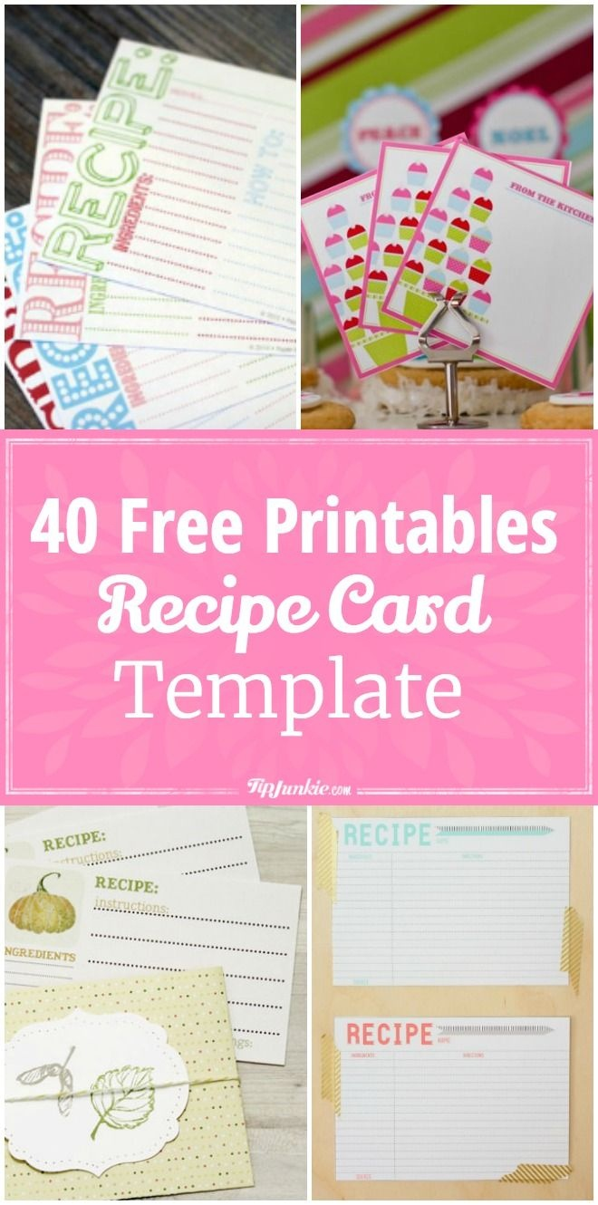 40 Recipe Card Template And Free Printables | Printables | Printable - Free Printable Recipe Cards