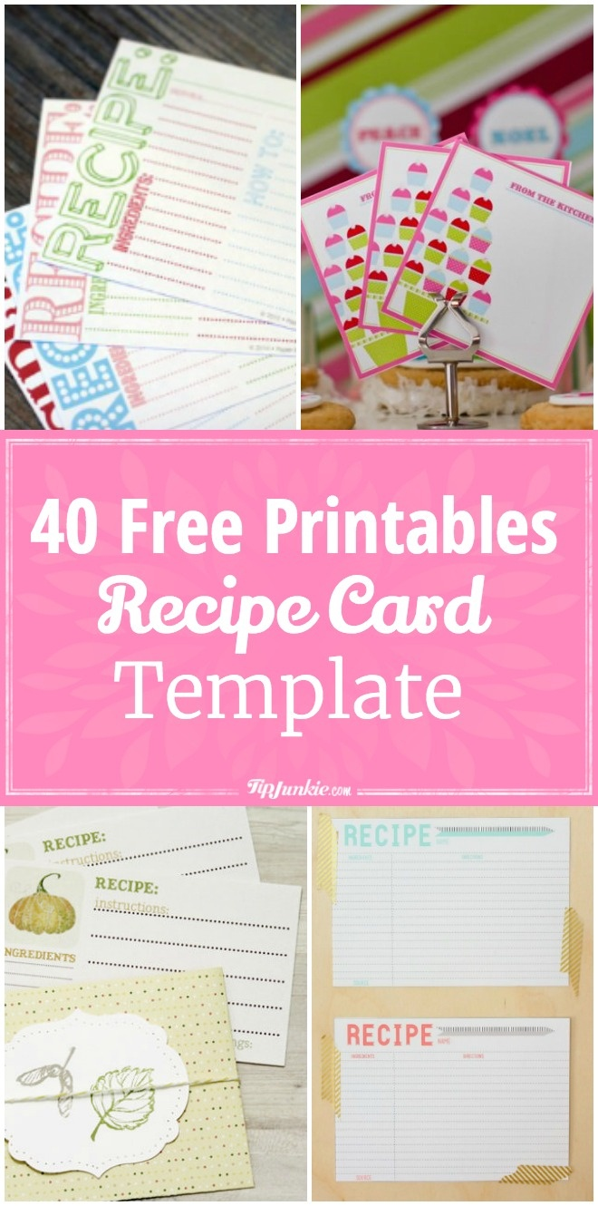 40 Recipe Card Template And Free Printables – Tip Junkie - Free Printable Photo Cards 4X6