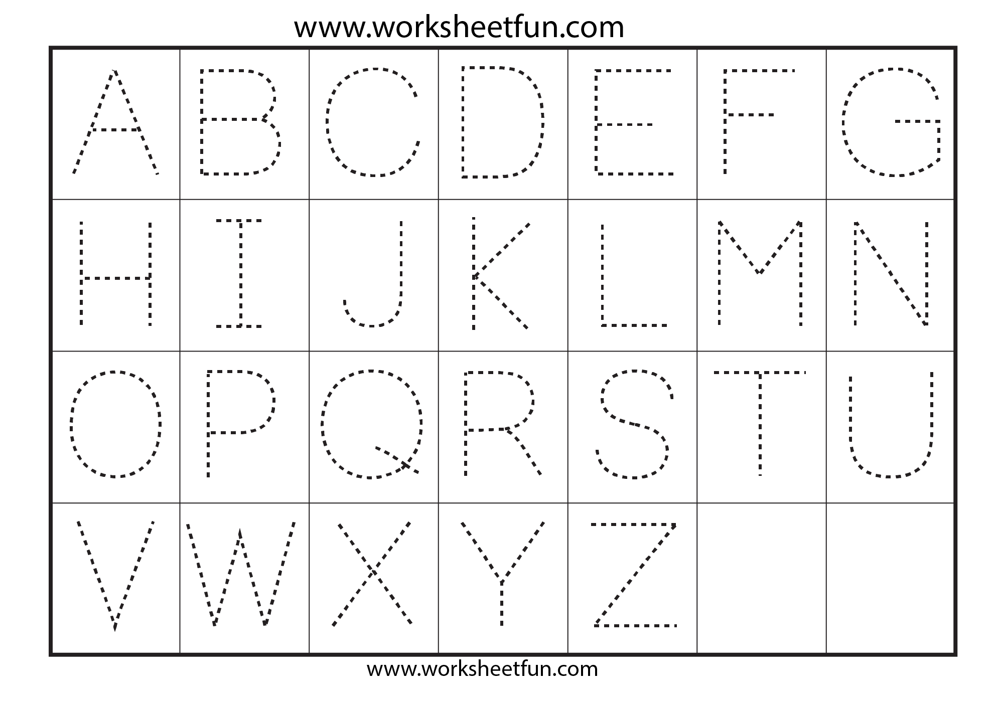 42 Educative Letter Tracing Worksheets   Kittybabylove - Free Printable Alphabet Tracing Worksheets