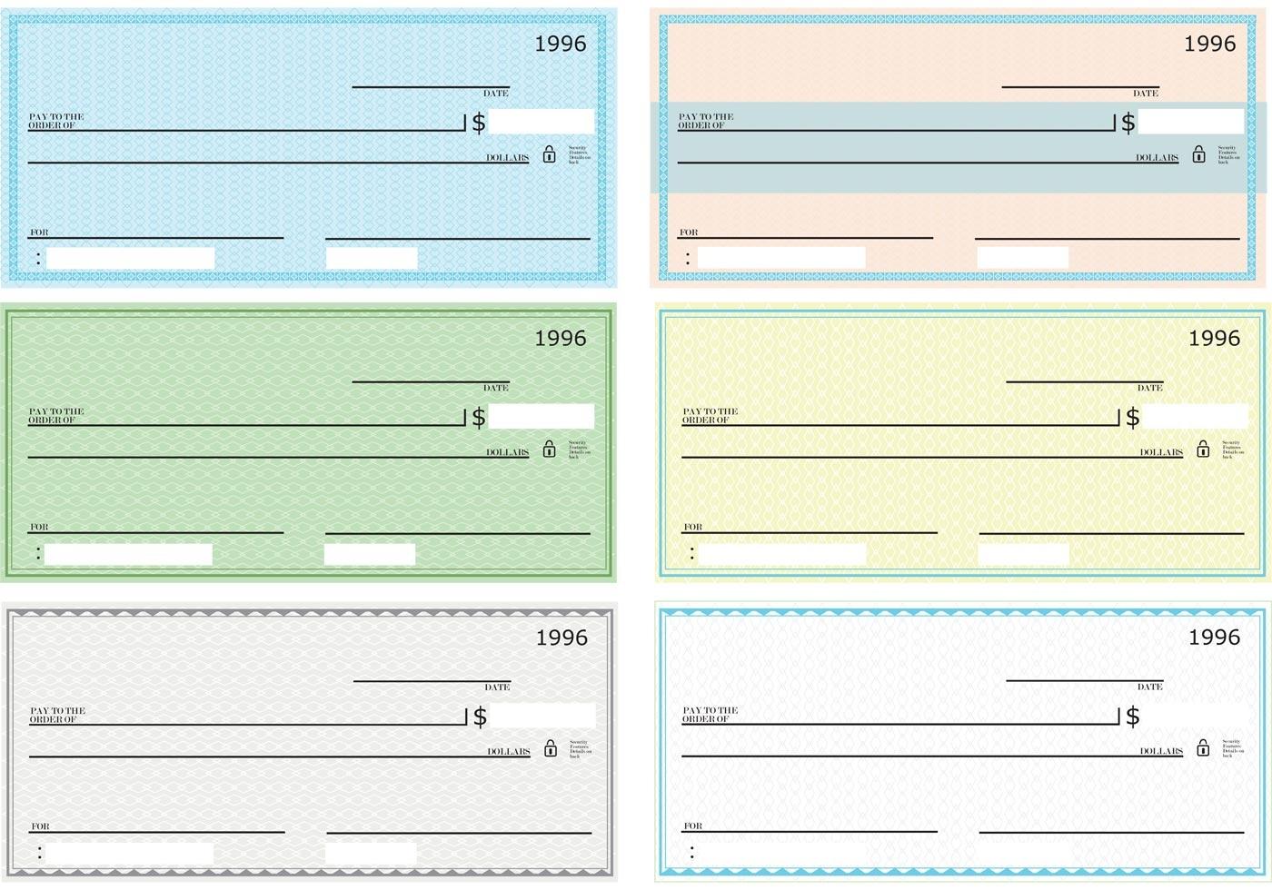 43+ Blank Check Templates Doc, Psd, Pdf - Ready To Use!! - Free Printable Blank Checks