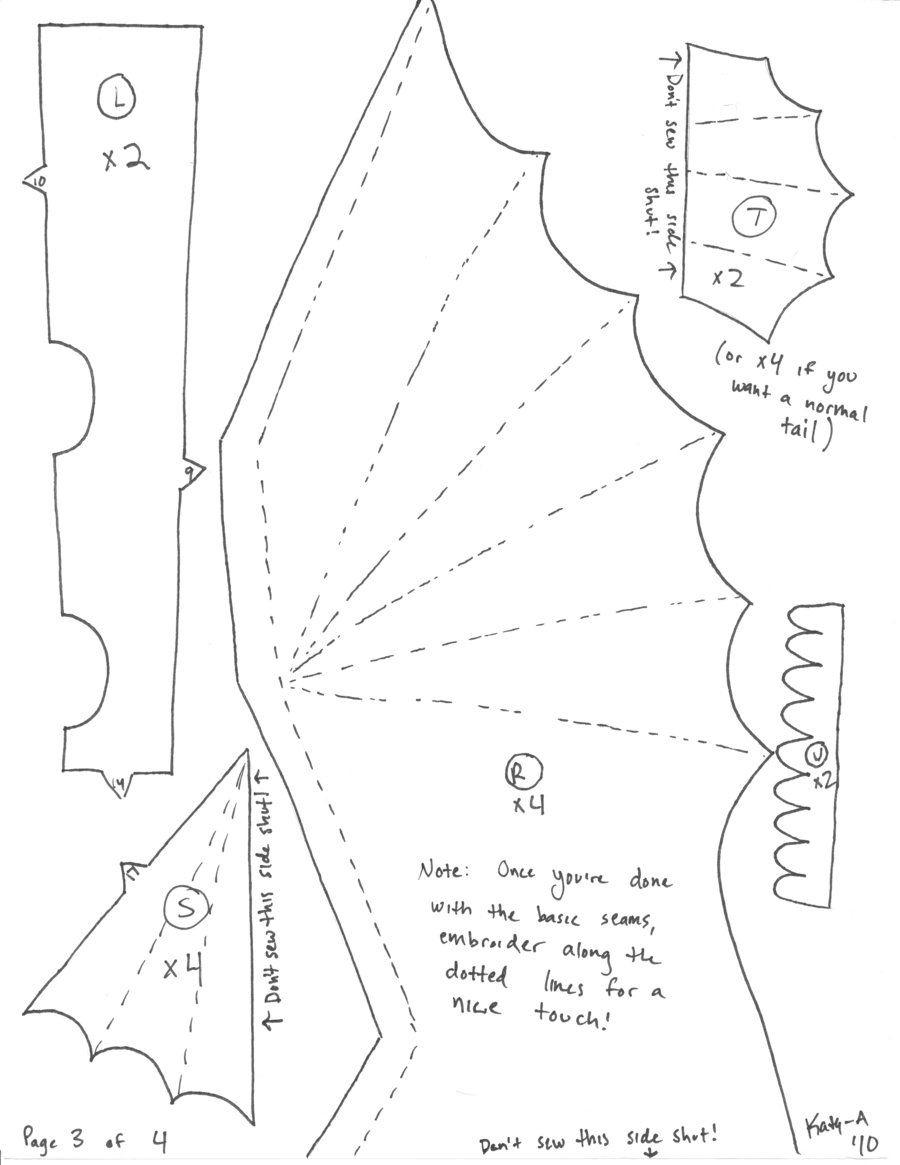 45 Free Printable Sewing Patterns | Dragon | Speelgoed Naaien - Free Printable Sewing Patterns