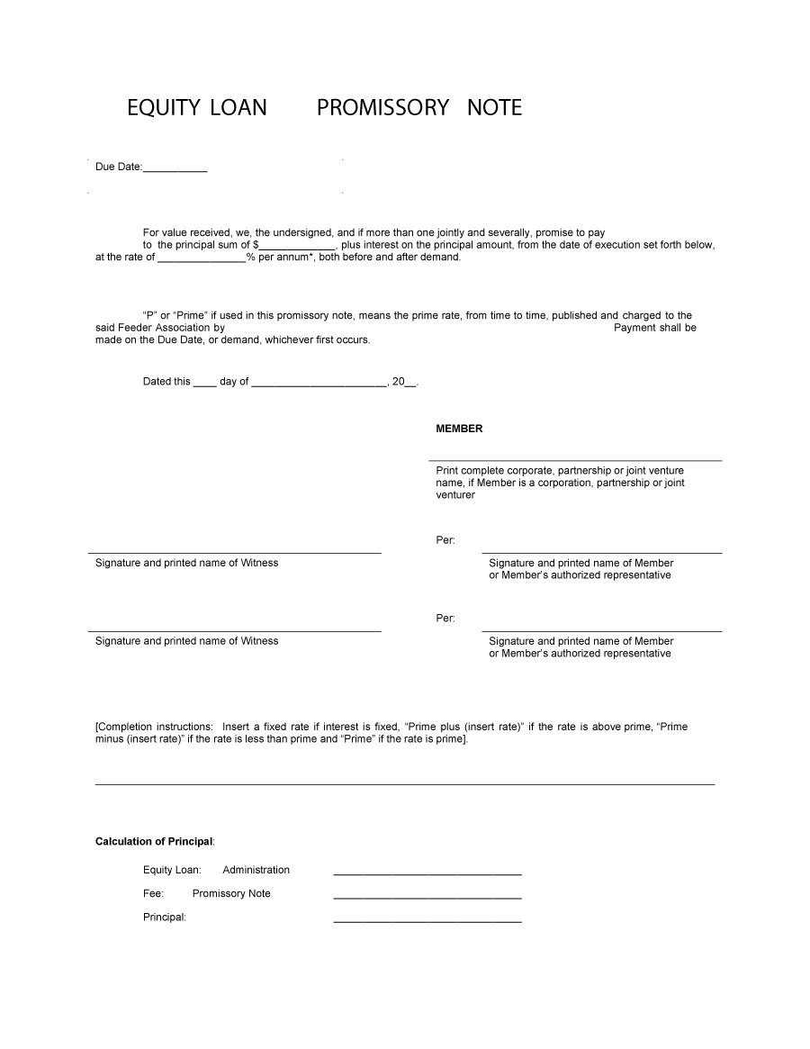 45 Free Promissory Note Templates & Forms [Word & Pdf] ᐅ Template Lab - Free Promissory Note Printable Form