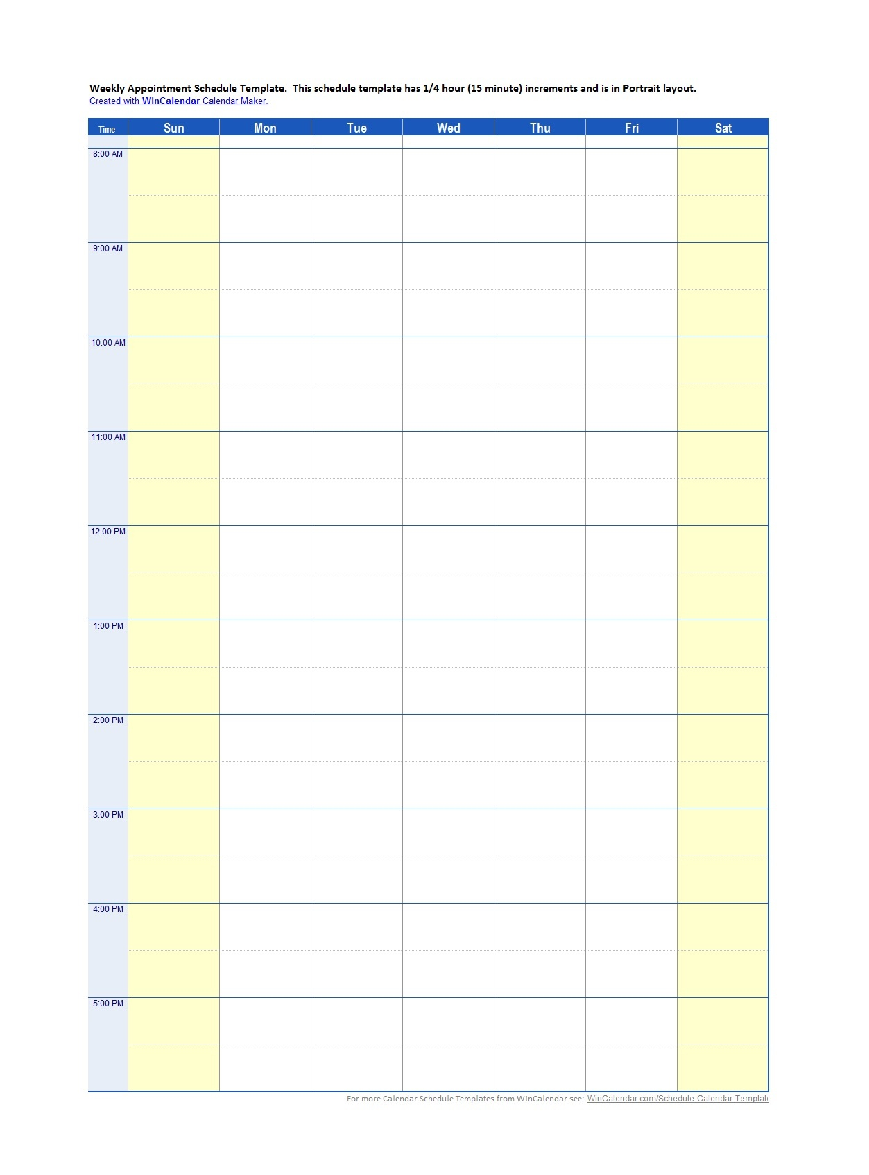 45 Printable Appointment Schedule Templates [& Appointment Calendars] - Free Printable Appointment Sheets