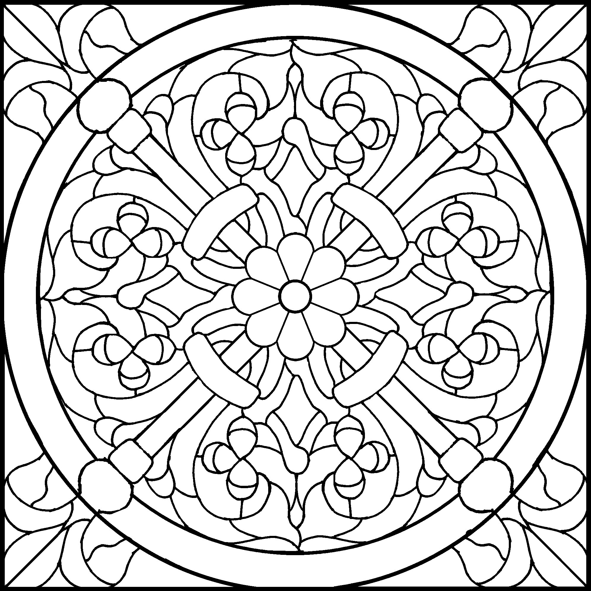 45 Simple Stained Glass Patterns | Guide Patterns - Free Printable Stained Glass Patterns