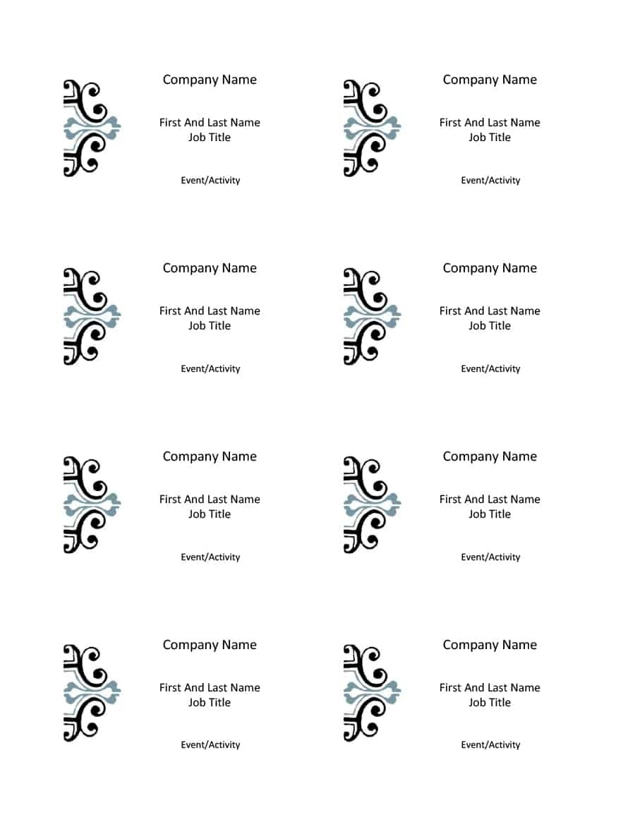 47 Free Name Tag + Badge Templates ᐅ Template Lab - Free Customized Name Tags Printable