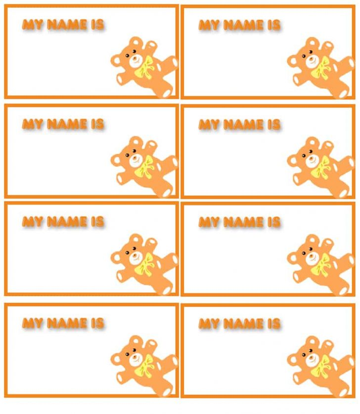 Free Customized Name Tags Printable