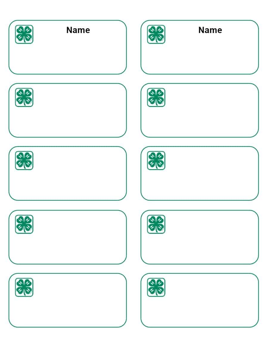 47 Free Name Tag + Badge Templates ᐅ Template Lab - Free Printable Badges