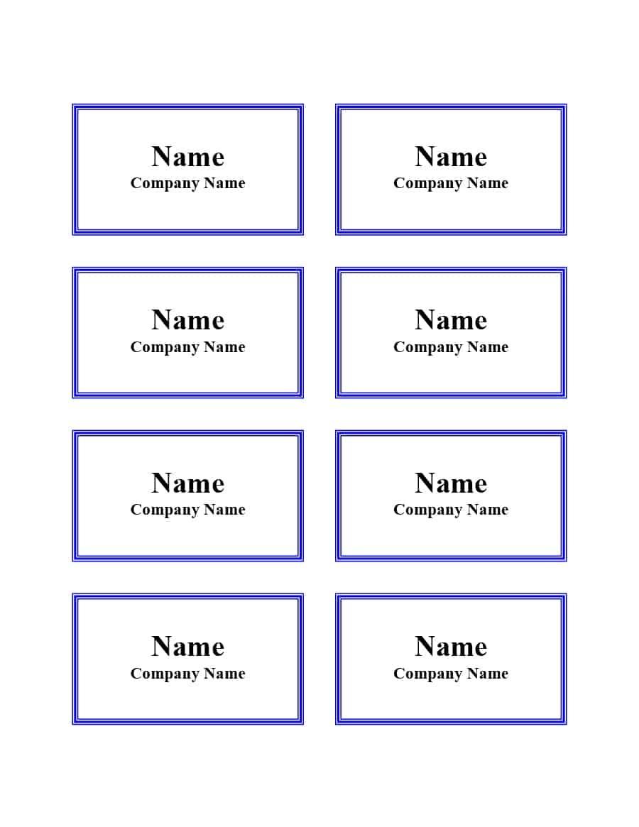 47 Free Name Tag + Badge Templates ᐅ Template Lab - Name Tag Template Free Printable