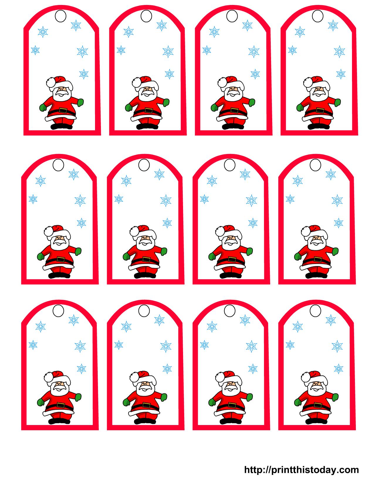 47 Free Printable Christmas Gift Tags (That You Can Edit And - Free Printable Christmas Gift Tags
