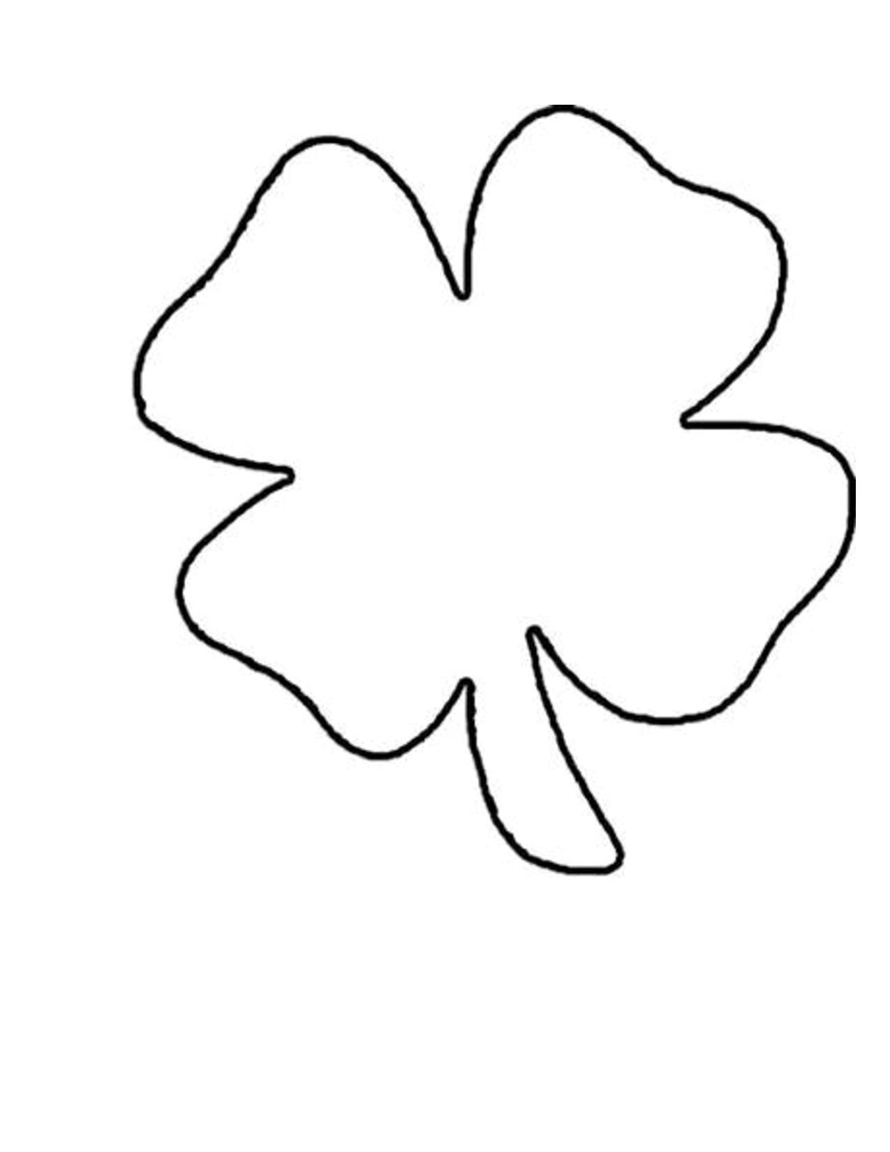 4+Clover+Leaf+Template+Shamrock+Pattern | St. Patricks | Shamrock - Free Printable Shamrock Cutouts