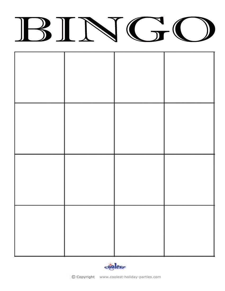 4X4 Bingo Cards - Google Search   Maths   Bingo Card Template, Blank - Free Printable Blank Bingo Cards