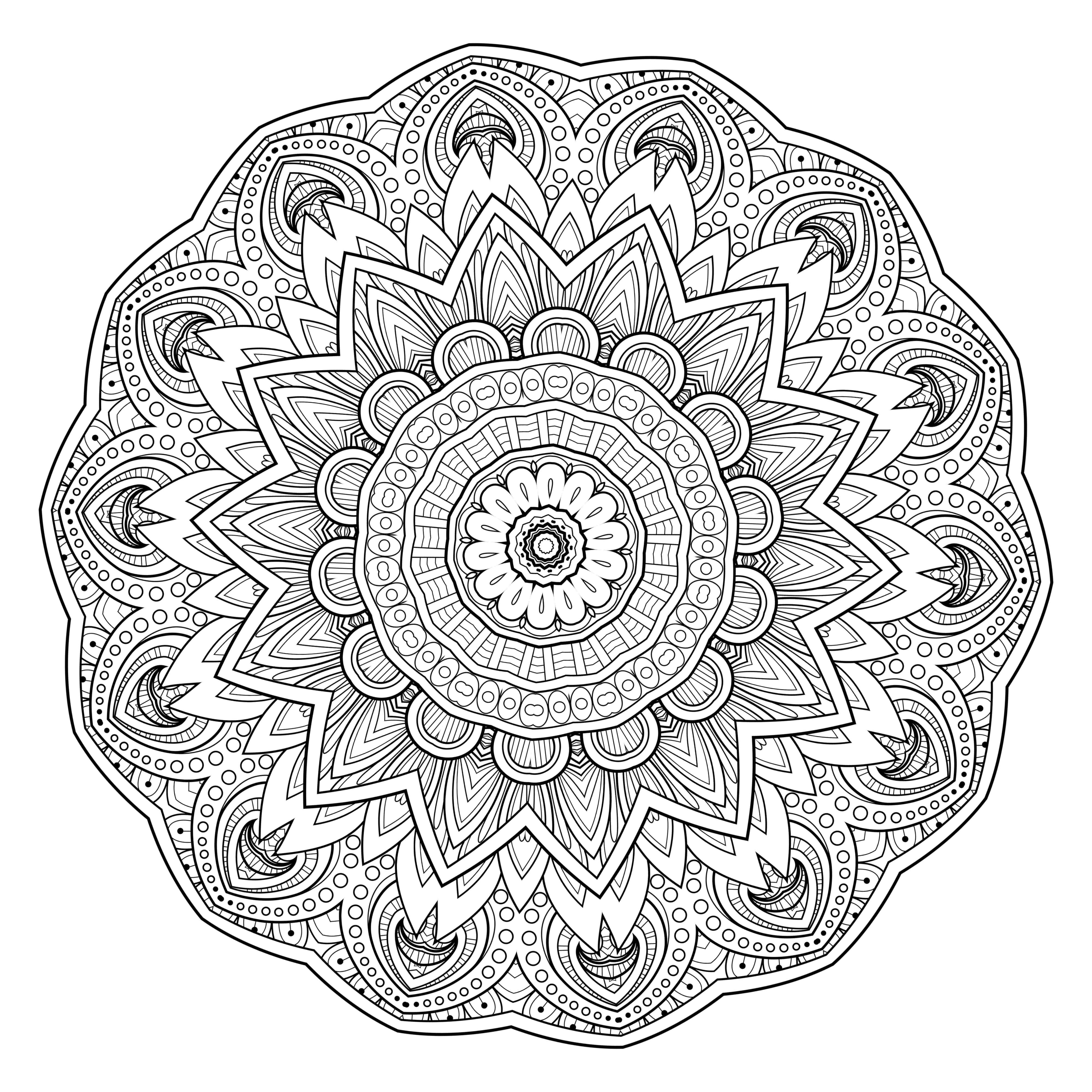 5 Free Printable Coloring Pages: Mandala Templates - Free Printable Mandalas