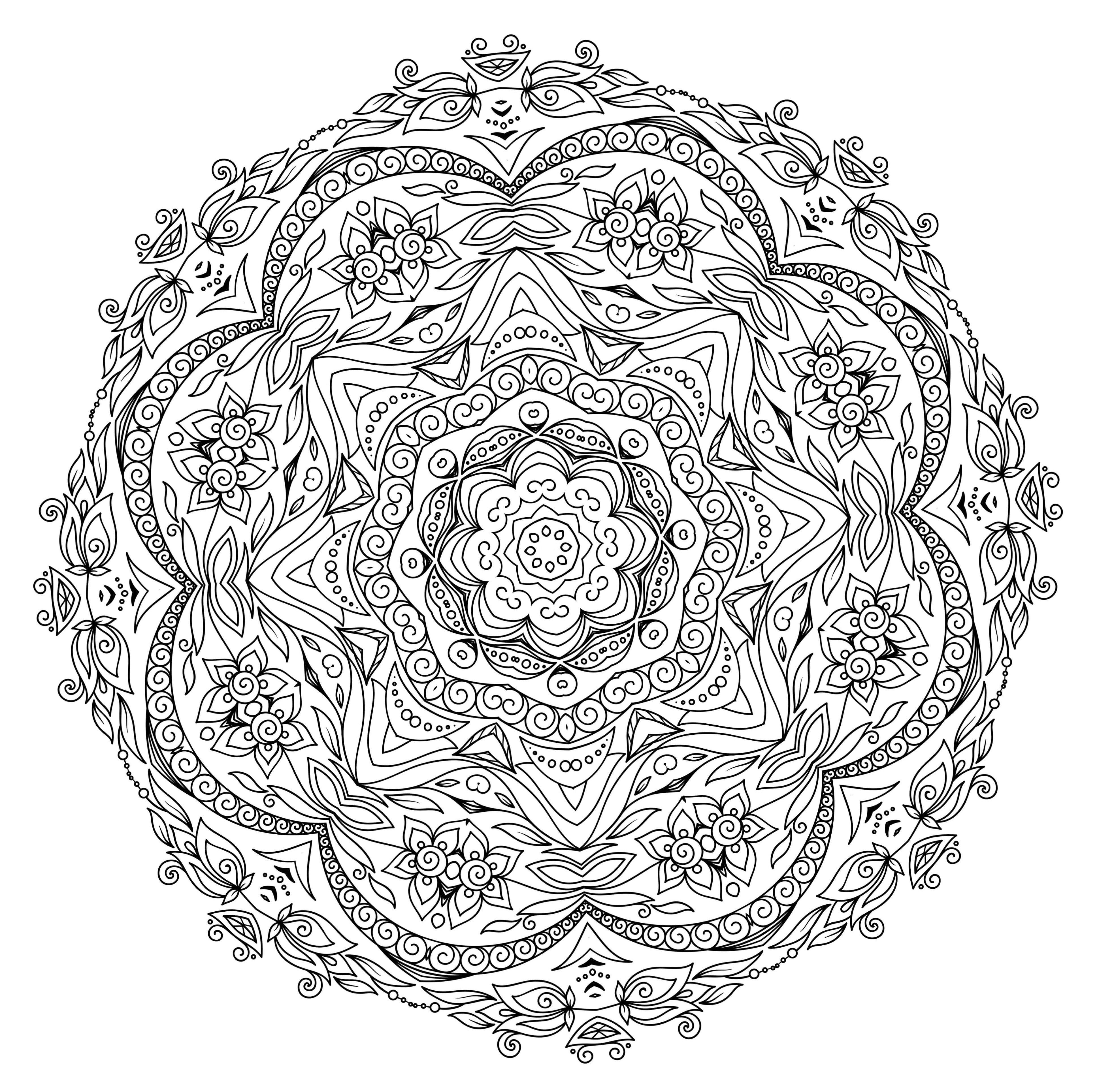 5 Free Printable Coloring Pages: Mandala Templates | Mental Health - Free Printable Mandalas