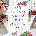 5 Free Vintage Truck Christmas Printables | The Happy Housie - Free Printable Vintage Christmas Images