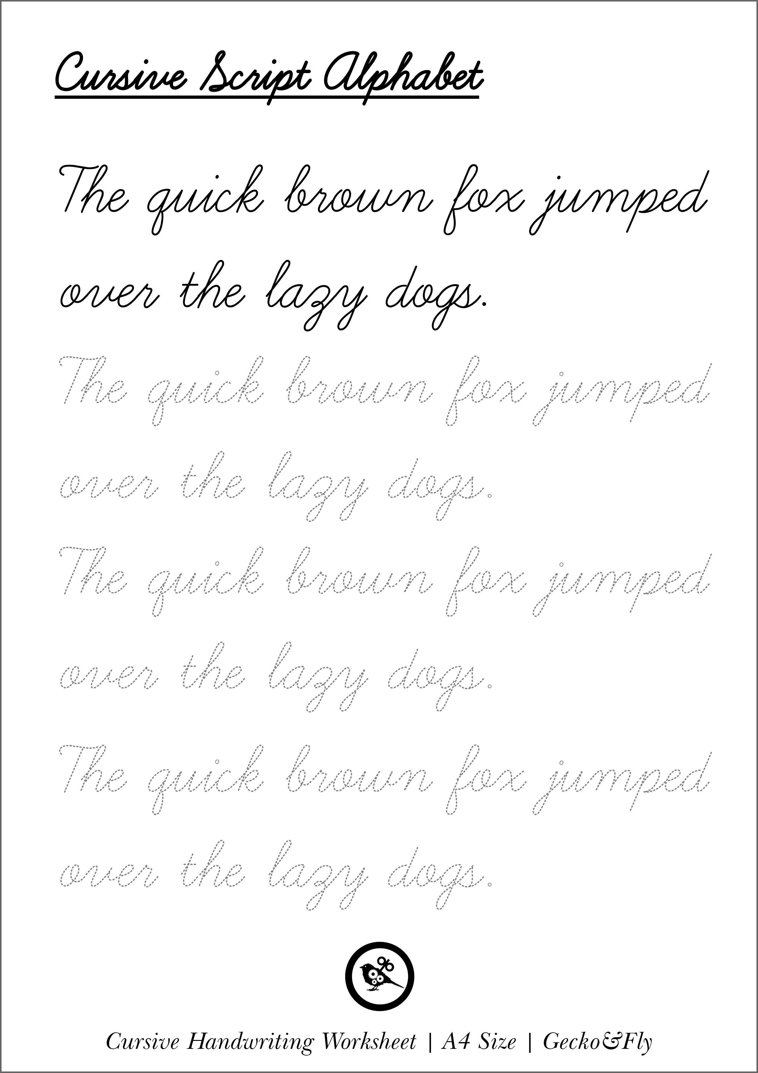 5 Printable Cursive Handwriting Worksheets For Beautiful Penmanship - Free Printable Cursive Writing Paragraphs
