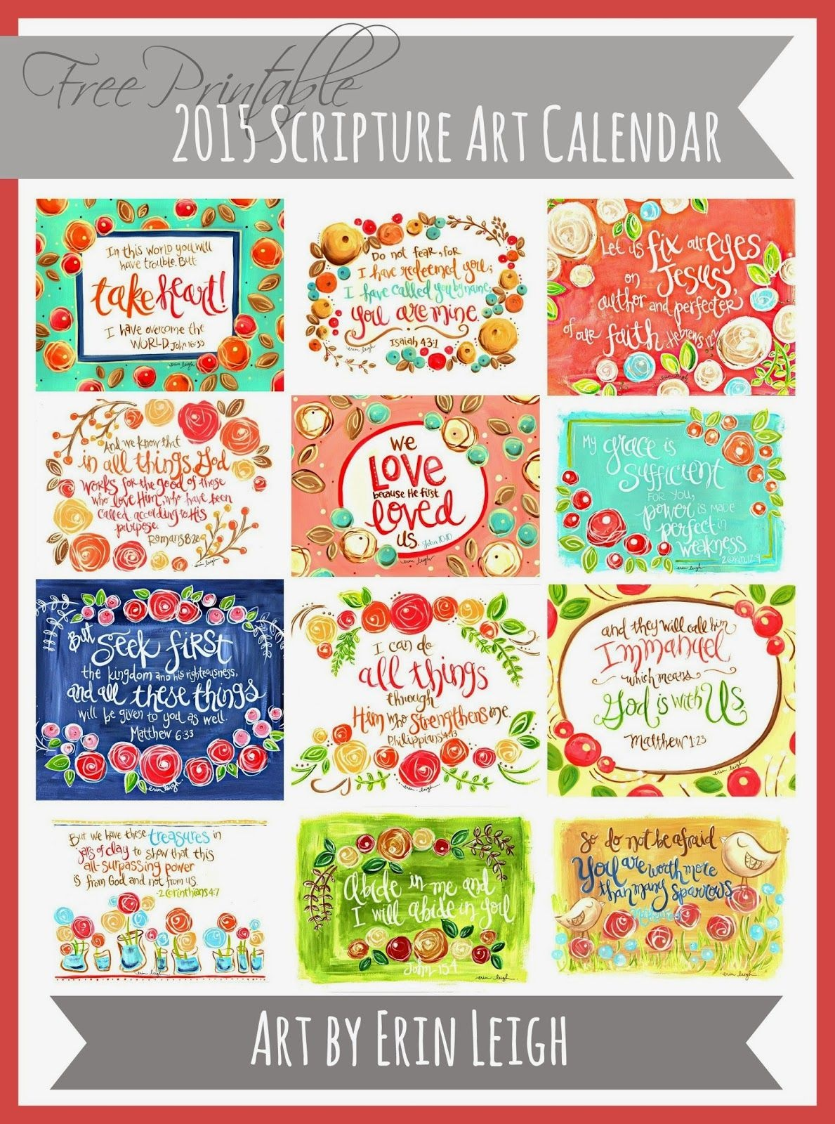 50+ 2015 Free Printable Calendars   Lolly Jane   Features - Free Printable Christian Art