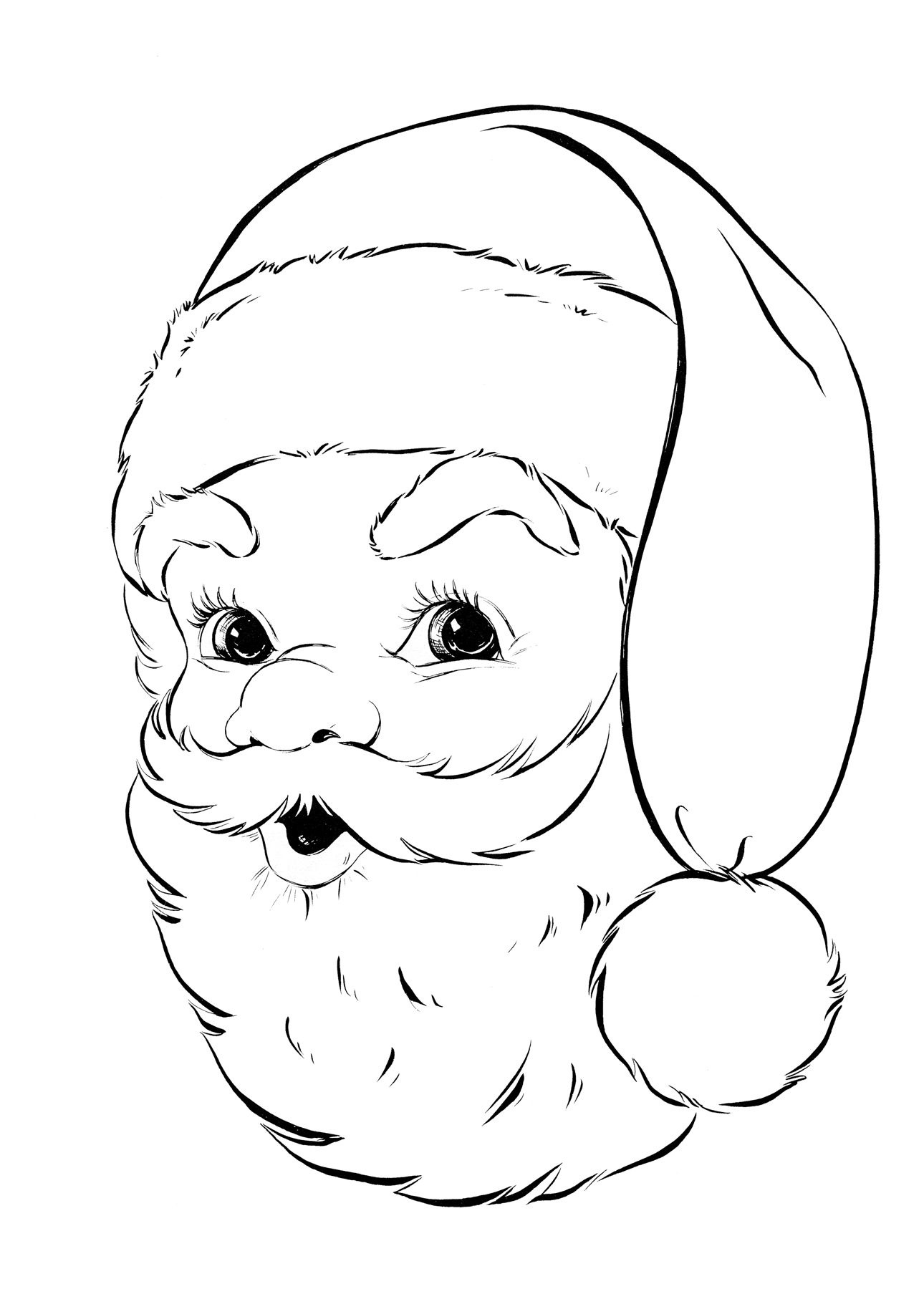 50 Free Activities For Children! | Digi Stamps | Santa Coloring - Santa Coloring Pages Printable Free