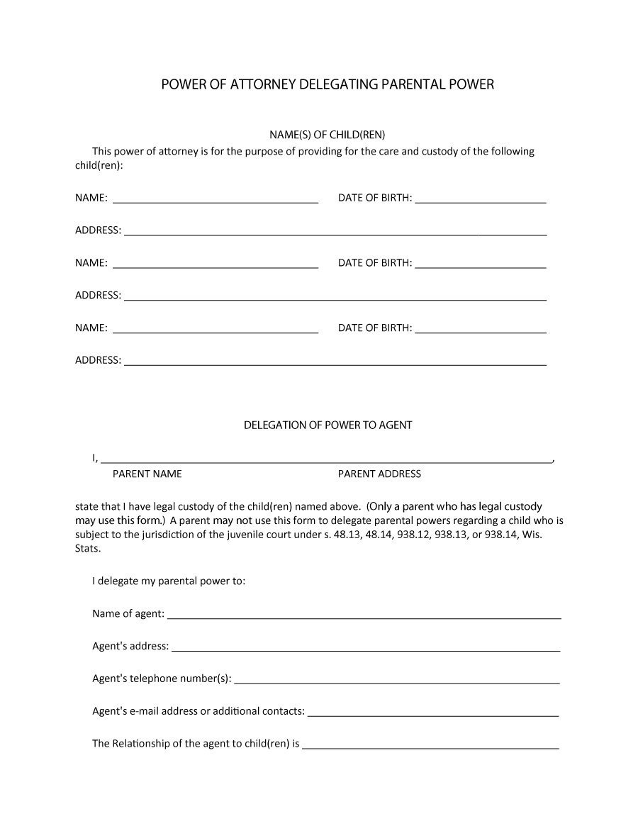 50 Free Power Of Attorney Forms & Templates (Durable, Medical,general) - Free Printable Power Of Attorney Forms Online