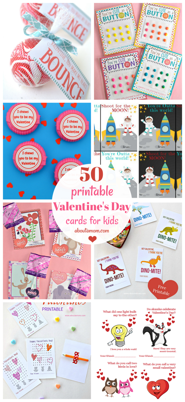 50 Free Printable Valentine's Day Cards - Free Printable Valentine Cards For Kids