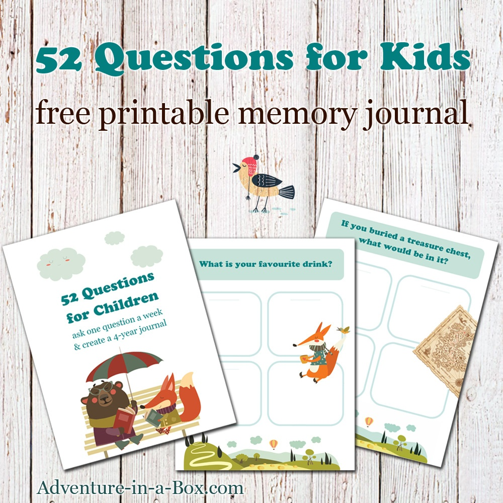 52 Questions For Children: Free Printable Template For A Q&a Journal - Free Printable Facebook Template