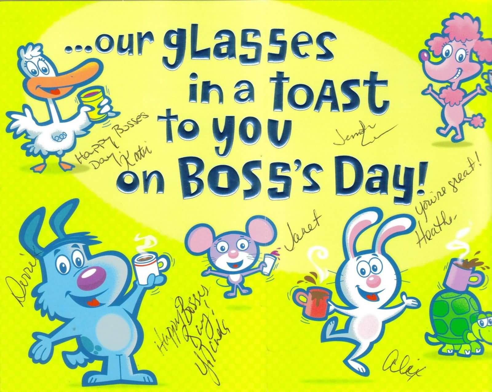 55+ Latest Boss Day Wish Pictures And Photos - Free Printable Funny Boss Day Cards