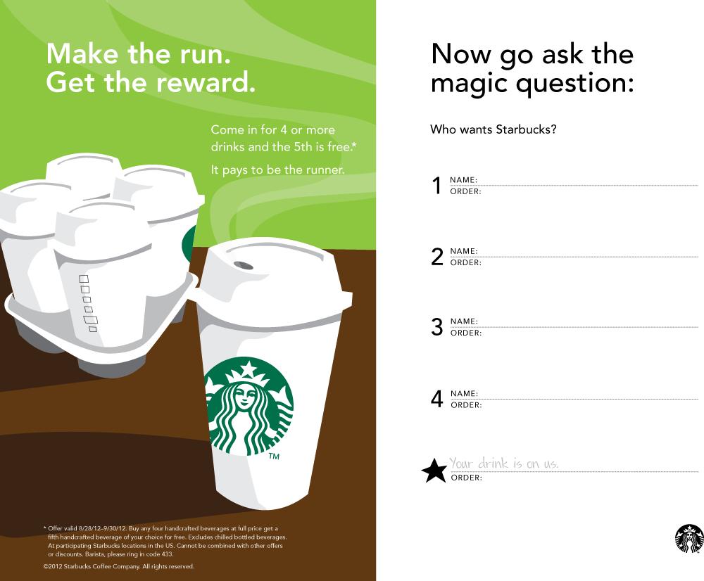 5Th Coffee Free At Starbucks Coupon Via The Coupons App | The - Free Starbucks Coupon Printable
