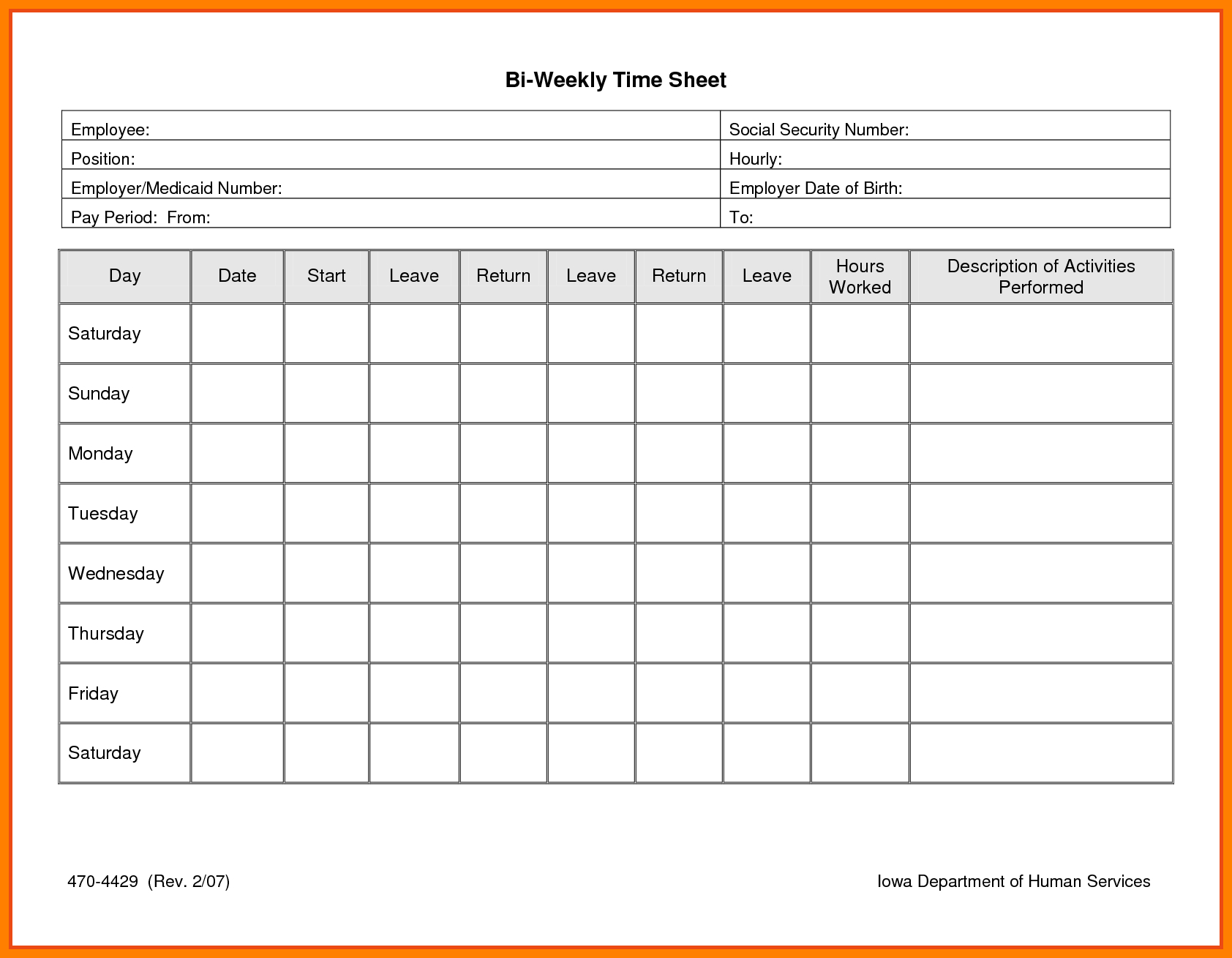 6+ Free Printable Time Sheets | Reptile Shop Birmingham - Free Printable Time Sheets