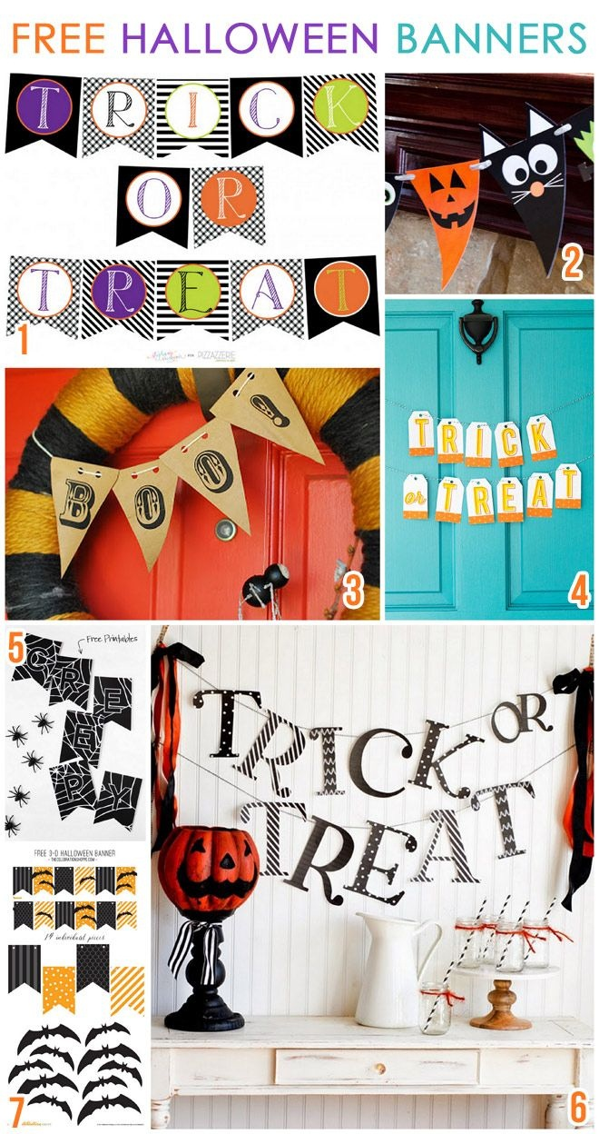 7 Free Printable Halloween Banners | Bloggers Best | Halloween - Free Printable Halloween Decorations Scary