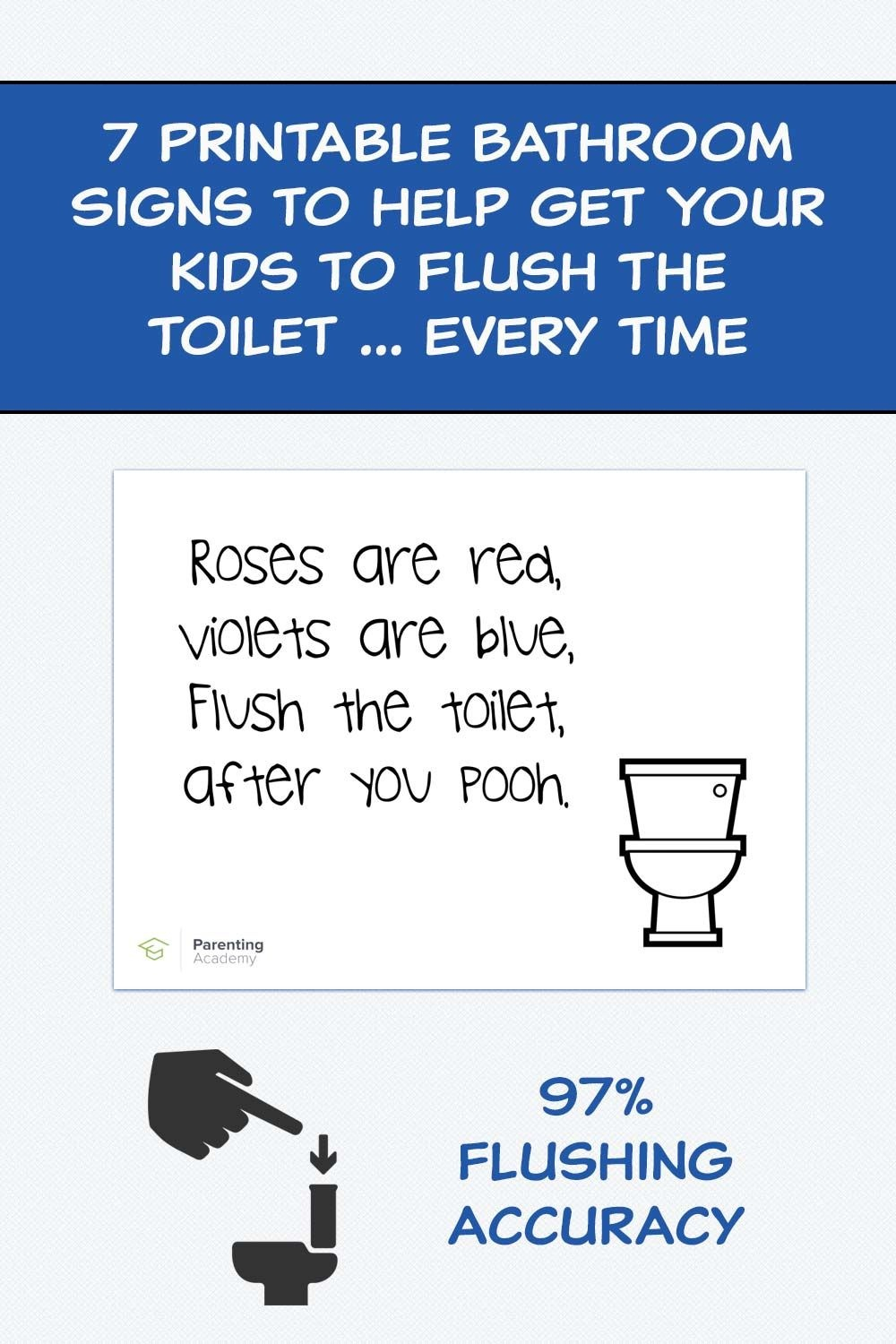 7 Printable Bathroom Signs To Help Get Your Kids To Flush The Toilet - Free Printable Flush The Toilet Signs