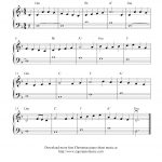 70 Melodious Christmas Piano Sheet Music | Kittybabylove   Christmas Piano Sheet Music Easy Free Printable